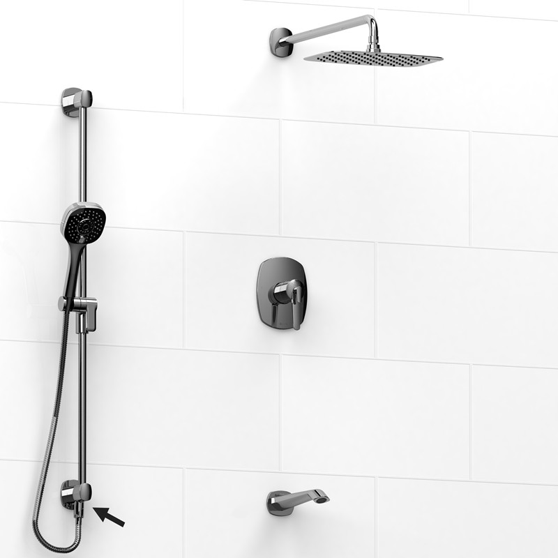 on plumbing kit w diverter kaia shower trim gerber spout product chrome tub